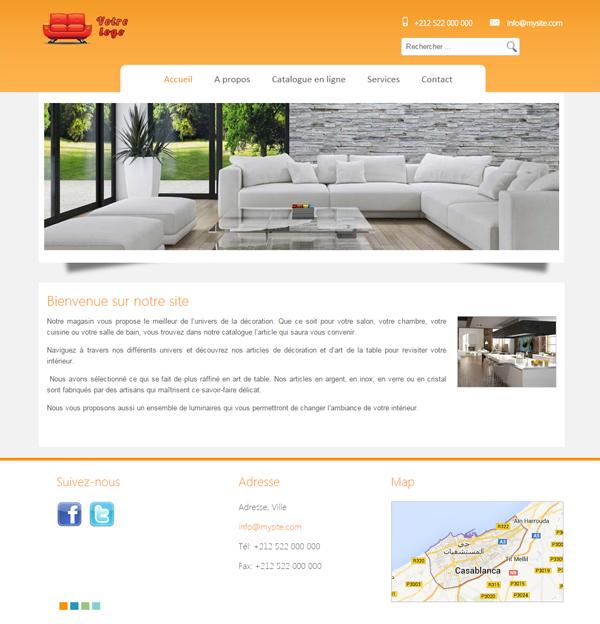 Site web professionnel d coration d cor et ambiance for Website decoration