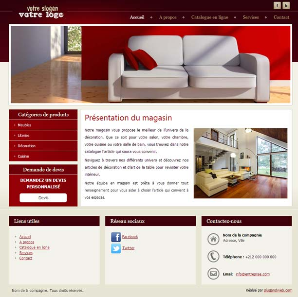 Site web professionnel m dical ameublement for Site ameublement